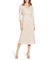 Leith Faux Wrap Midi Dress
