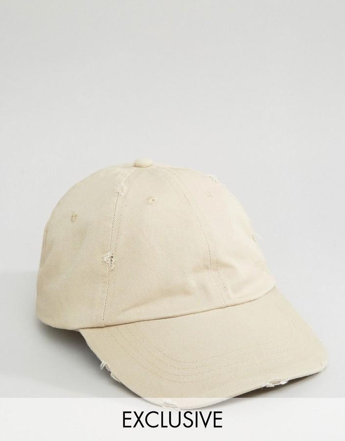 Gorra de Béisbol Beige de Reclaimed Vintage: dónde comprar y cómo ...