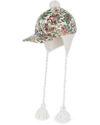 Gorra de béisbol blanca de Gucci
