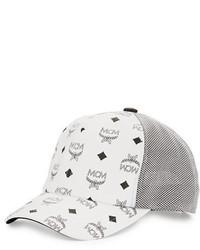 Gorra de béisbol blanca de MCM