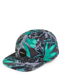 Gorra de béisbol con print de flores verde