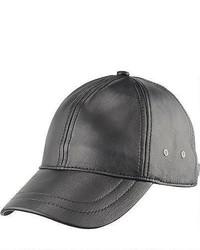 Gorra de béisbol de cuero marrón