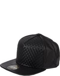 Gorra de béisbol de cuero negra