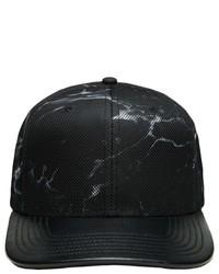 Gorra de Béisbol de Cuero Negra de Gents