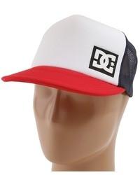 Gorra de béisbol en blanco y rojo