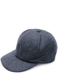 Gorra de béisbol en gris oscuro de Brunello Cucinelli