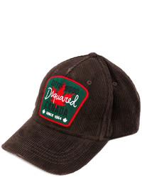Gorra de béisbol en marrón oscuro de DSQUARED2
