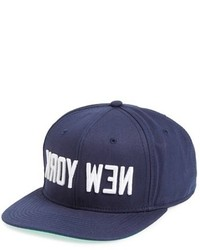 Gorra de béisbol estampada azul marino