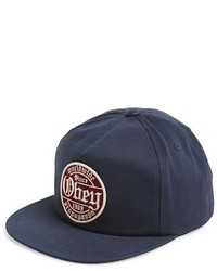 Gorra de béisbol estampada azul marino de Obey