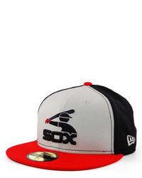 Gorra de béisbol estampada en blanco y rojo