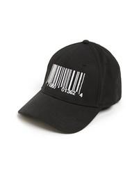 Gorra de béisbol estampada en negro y blanco de Gents