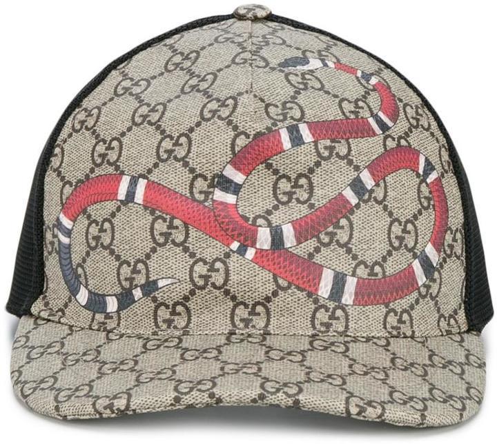 3f3415a237dc3 Gorra de Béisbol Estampada Marrón Claro de Gucci  dónde comprar y ...
