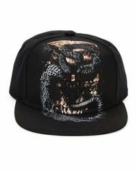 Gorra de béisbol estampada negra de Marcelo Burlon County of Milan