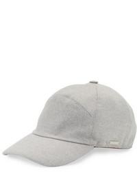 Gorra de béisbol gris de Loro Piana