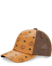 Gorra de béisbol marrón de MCM