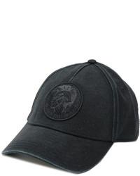 Gorra de béisbol negra de Diesel