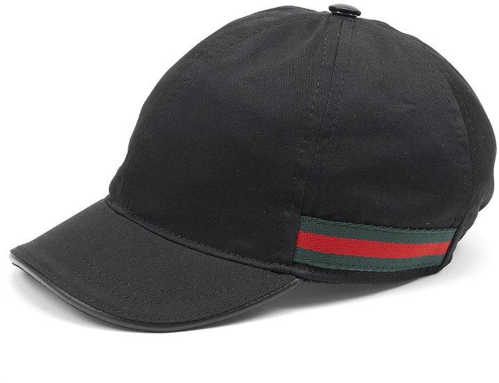 Gorra de Béisbol Negra de Gucci  dónde comprar y cómo combinar 41c56045227