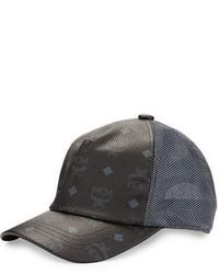 Gorra de béisbol negra de MCM