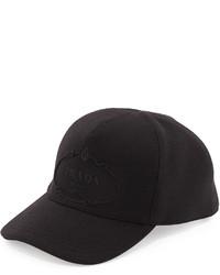 Gorra de béisbol negra de Prada