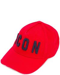 Gorra de béisbol roja de DSQUARED2
