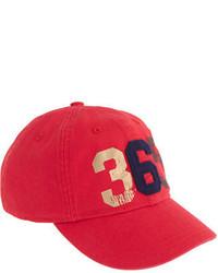 Gorra de béisbol roja de J.Crew