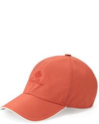 Gorra de béisbol roja de Loro Piana