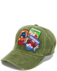 Gorra de béisbol verde oliva de DSQUARED2