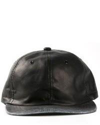 Gorra inglesa de cuero negra
