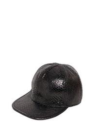 Gorra inglesa de cuero negra de Stella McCartney