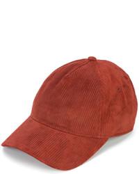 Gorra inglesa de cuero roja de Rag & Bone