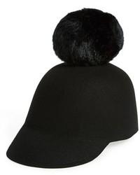 Gorra inglesa de lana negra de Kate Spade
