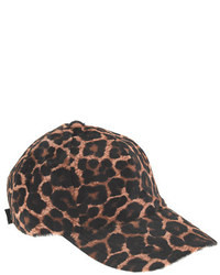 Gorra inglesa de leopardo marrón de J.Crew