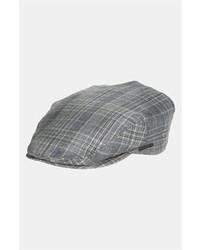 Gorra inglesa de tartán gris de Stetson