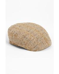 Gorra inglesa de tartán marrón claro de Stetson