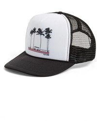Gorra inglesa en negro y blanco de Rip Curl