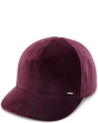 Gorra inglesa morado oscuro de CA4LA