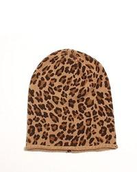 Gorro de leopardo marrón claro