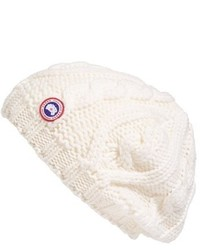 Gorro de punto blanco de Canada Goose