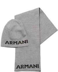 Gorro de punto gris de Armani Junior