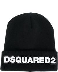 Gorro estampado negro de DSQUARED2