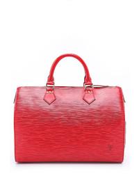 Grand sac en cuir rouge Louis Vuitton