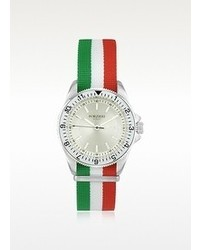 Forzieri Amerigo Multicolor Fabric Strap Date Watch