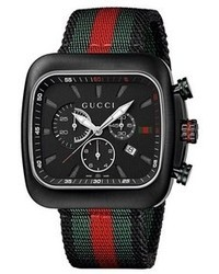 Gucci Coup Chronograph Nylon Strap Watch 44mm