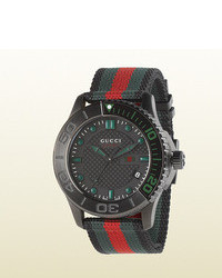 Gucci G Timeless Sport Extra Large Pvd And Web Watch