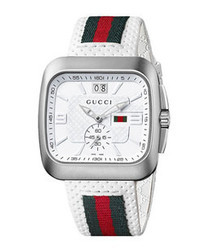 Gucci Coupe Leather Strap Watch 40mm