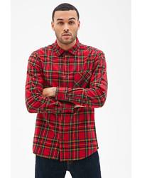 21men 21 Plaid Flannel Collared Shirt
