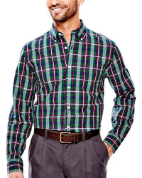 St Johns Bay St Johns Bay Legacy Long Sleeve Poplin Shirt