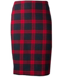 Harvey faircloth plaid pencil skirt medium 86820