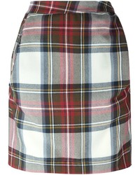 Vivienne westwood anglomania plaid asymmetric short skirt medium 338026