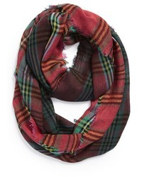 Green and Red Plaid Scarf